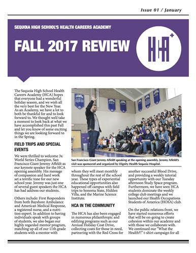 Sequoia High School - NEWSLETTER